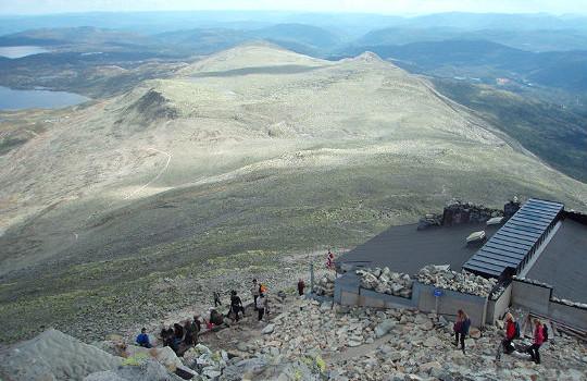 Gaustatoppen 1883 moh